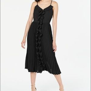 Bar III Ruffled Pleated-Skirt Fit & Flare Dress